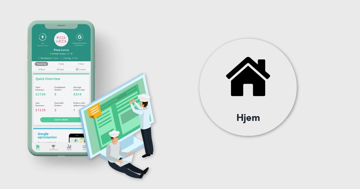 My Business App Forklaret: Hjem